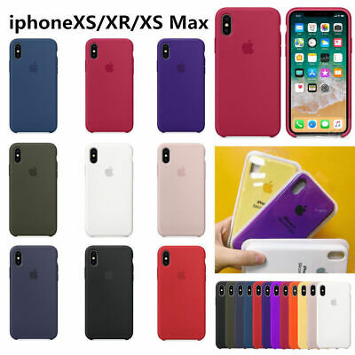 originalee silicone Sottile Custodia Cover per for Apple iPhone 8 7 6s plus X XR