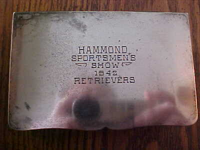 1942 Hammond IN Sportsmen's Show (DOG) Retrievers Trophy Box See All Pictures
