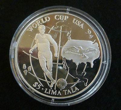 World Cup USA 1994 Sterling Silver Proof 5 Lima Tala 1994 Tokelau