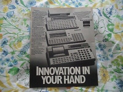Sharp Technology]  Products  Vintage   Advert Must See