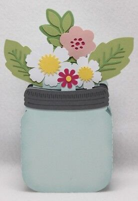 Handmade Card In A Box card  Mason Jar  personalised any occasion Mother's Day