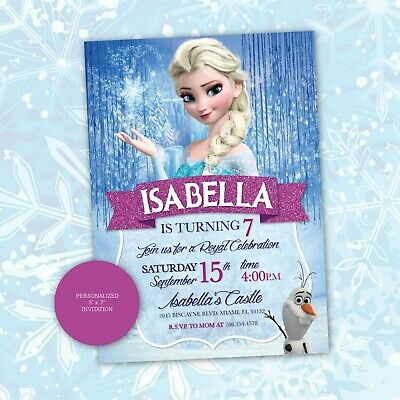 This is a picture of Selective Frozen Invites Printable