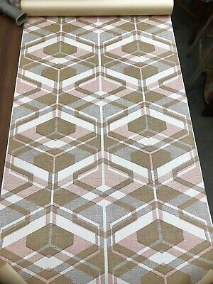 Vintage 60s 70s Wallpaper Roll Geometric Mid Century House W. Germany Goudsmitt