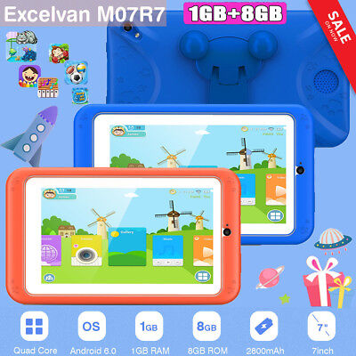 """7"""" KIDS ANDROID 6.0 TABLET PC 1GB+8GB WIFI KIDS CHILD Education PAD 1024*600"""