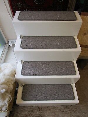 14 Luxury Steps stain resistant carpet stair pads LARGE 65cm x 20cm Brown Fleck
