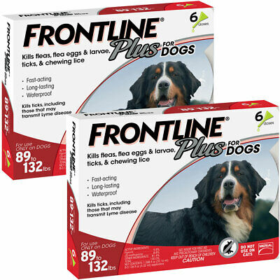 Frontline Plus for Dogs Extra Large Dog 89 to 132 pounds 12 Doses, FREE SHIP