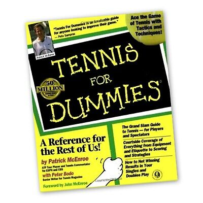 Tennis For Dummies by Bodo, Peter Paperback Book The Cheap Fast Free Post