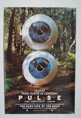 PINK FLOYD Double-Sided Promo Poster 'PULSE IN CONCERT DVD'