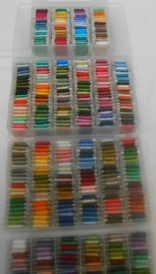 DMC Stranded Cotton Threads 447 full skeins on paper bobbins 4 display boxes