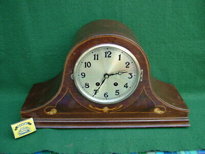 INLAID 1930's ART DECO MANTLE CLOCK in ORIGINAL, WORKING CONDITION WITHOUT GLASS