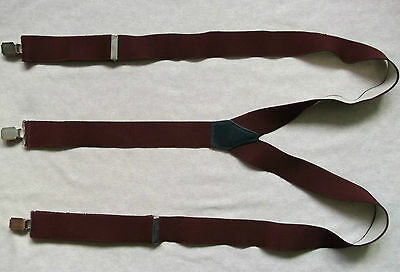 Braces Suspenders Mens Vintage CLIP ON 1980s STOCKBROKER