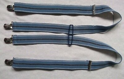 Braces Suspenders Mens Vintage CLIP ON 1970s SKINHEAD SKA DUSKY BLUE