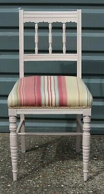 Edwardian upholstered painted chair - REDUCED!!!