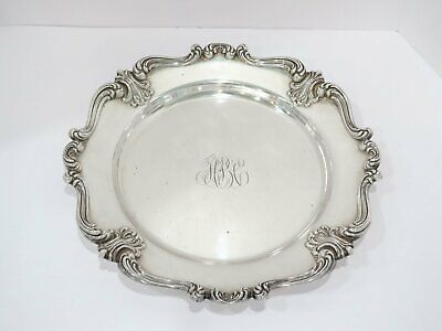 14 1/8 in - Sterling Silver Whiting Antique Scroll Rim Large Serving Plate