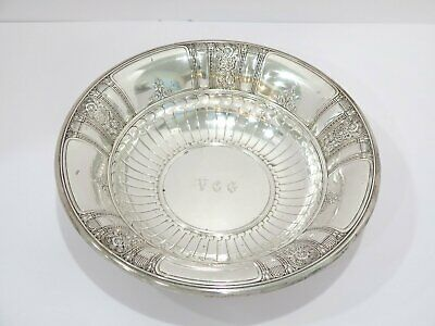 "10.5 in - Sterling Silver Gorham Antique ""Frontenac"" Floral Serving Plate"