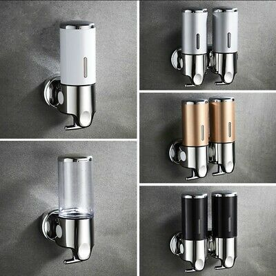 Liquid Soap Dispenser Wall Mounted 400ml Bathroom Body Lotion Shampoo Holder New