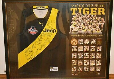 2017 Richmond Tigers Premiers Signed & Framed Jumper - Limited Edition Rrp-$1995