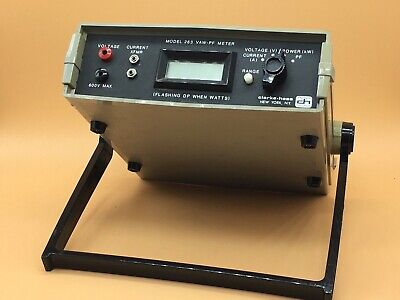 Clarke Hess Power Factor VAW Meter Model 263