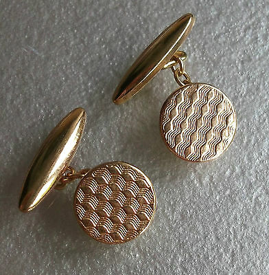 Cufflinks MENS Cuff Links NEW GOLD TONE Vintage GILT 1930s 1940s 1950s ART DECO