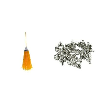 30pcs Beads Caps,End Caps,Tassel Charms For Jewelry Making DIY Accessories