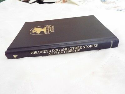1988 The Under Dog & Other Stories Agatha Christie Mystery Bantam Leatherette