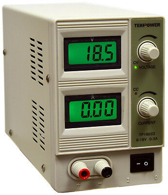 Tekpower HY1803D Variable DC Power Supply, 0 - 18V @ 0 - 3A