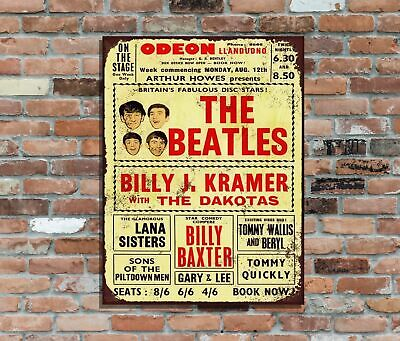 The Beatles Odeon Llandudno Wales Retro Metal Poster Wall Sign (2)