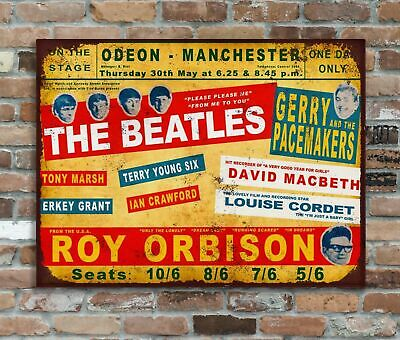 The Beatles Odeon Manchester Retro Metal Advertising Poster Wall Sign (2)