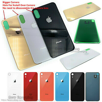 Replace Battery Glass Back Cover Housing Bigger Cam Hole iPhone Xs Max Xr XS 8P