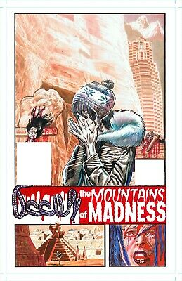 H. P. Lovecraft Mountains Of Madness Original Painted Comic Art By Rob Moran
