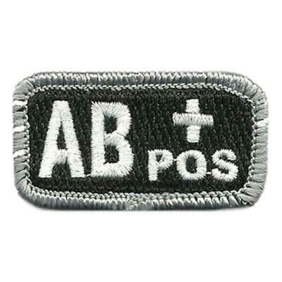 """VELCRO® BRAND Hook Fastener Compatible Patch Blood Type AB+ POS BLK WHT 1x2"""""""