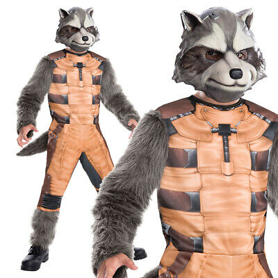 Childs Rocket Raccoon Costume Avengers Endgame Guardians Of Galaxy Fancy Dress