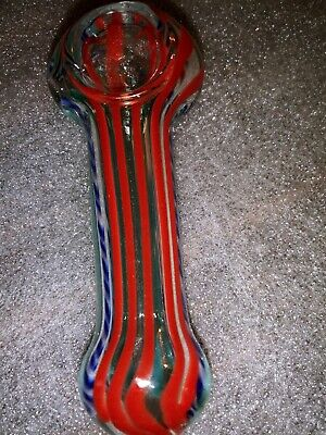 """COLLECTIBLE TOBACCO PIPE 4""""- 1 for $5.00.GLASS HAND SMOKING PIPES"""