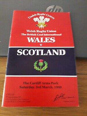 1990-Wales V Scotland-Five Nations-Grand Slam-International-Rugby Programme-Good