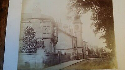 1880'S Antique Photograph Lower Bebbington Mayer Hall Library Wirral Cheshire