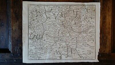 1760 Original Copper Plate Antique Map Brandenburg Berlin Germany - John Gibson