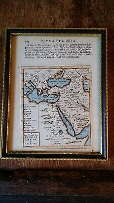1687 Rare - A New Map Of The Turkish Empire By Robert Morden - Ottoman - Framed