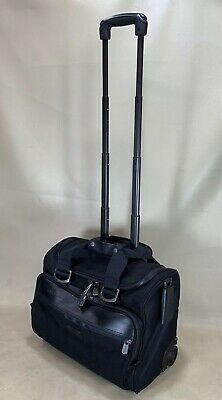 "ANDIAMO Valoroso Black 17"" Wheeled Carry On Rolling Tote Overnighter Luggage"