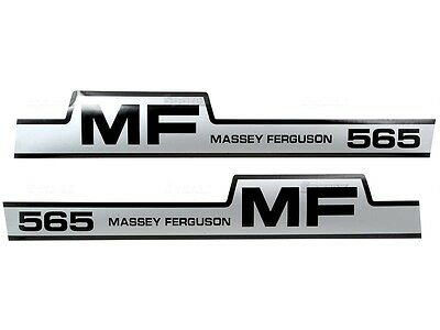 Bonnet Decal Set Fits Massey Ferguson 565 Tractors.