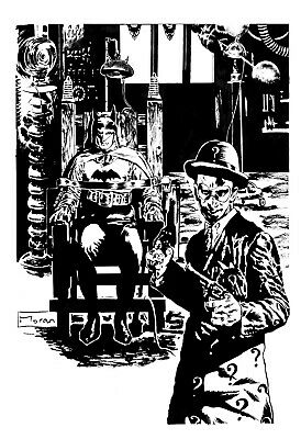 Batman The Last Serial Original Art By Rob Moran