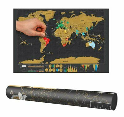 """16.7"""" x 11.8"""" Scratch Off World Map Wall Poster-Mini Travel Tracker Poster..."""