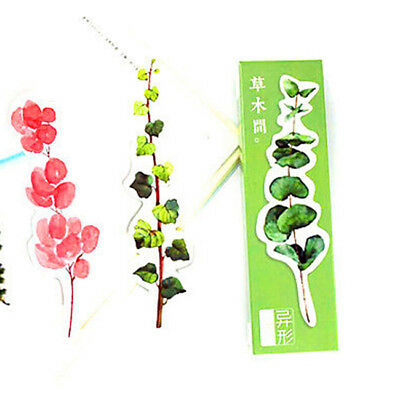30pcs Set Bookmarks Paper Leaves Plants Bookmarks Clips for School Supplies KE