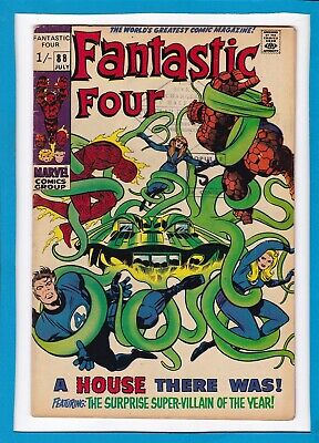 """Fantastic Four #88_July 1969_Fine+_Mole Man_""""a House There Was""""_Silver Age Uk!"""