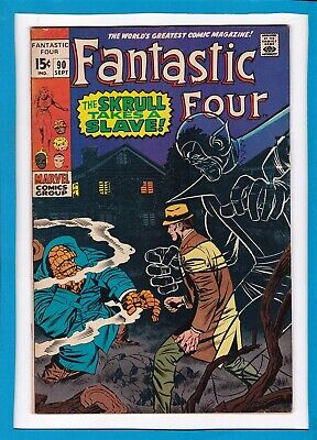 """Fantastic Four #90_Sept 1969_Vf Minus_""""the Skrull Takes A Slave""""_Silver Age!"""