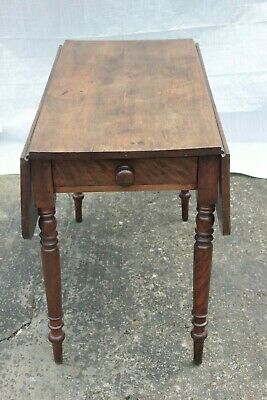 Pembroke mahogany drop leaf single draw dining table - FURTHER REDUCED!!!