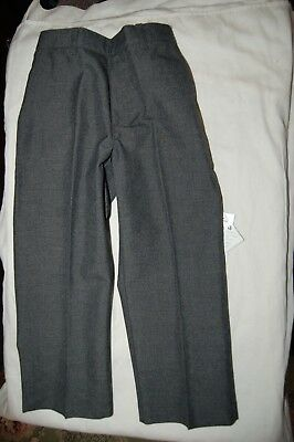 George School Trousers Pull On Grey Half Elasticated Waist Age 3-4 Years BNWT