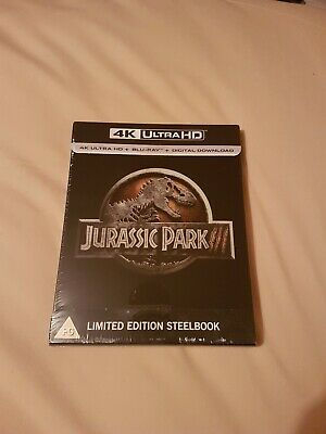 Jurassic Park 3 (III) 4K UHD + Blu Ray Steelbook New And Sealed Uk Stock