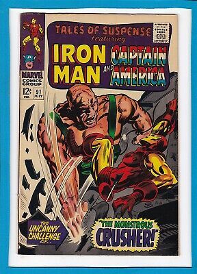 TALES OF SUSPENSE #91_JULY 1967_VG+_CAPTAIN AMERICA_1st APP OF THE CRUSHER!