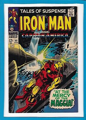 Tales Of Suspense #99_March 1968_Vf+_Iron Man_Captain America_Final Issue!