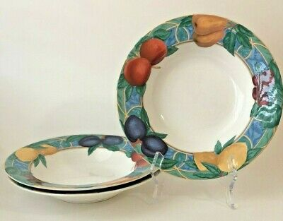 VICTORIA & BEALE Casual Forbidden Fruit Soup / Cereal Bowls, Set of 3